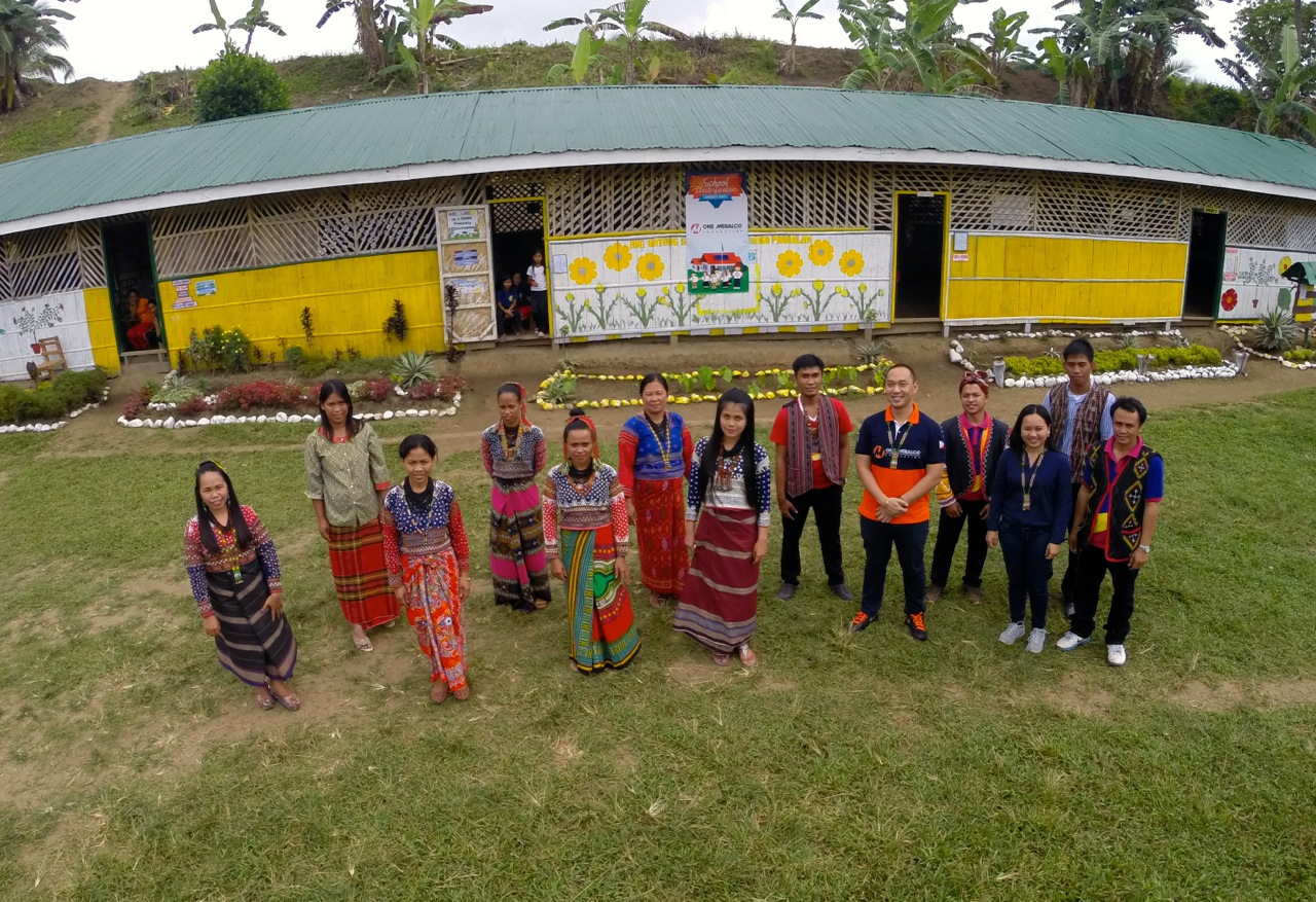 B'laan students in Sarangani are among those who benefited from One Meralco Foundation's school electrification program.