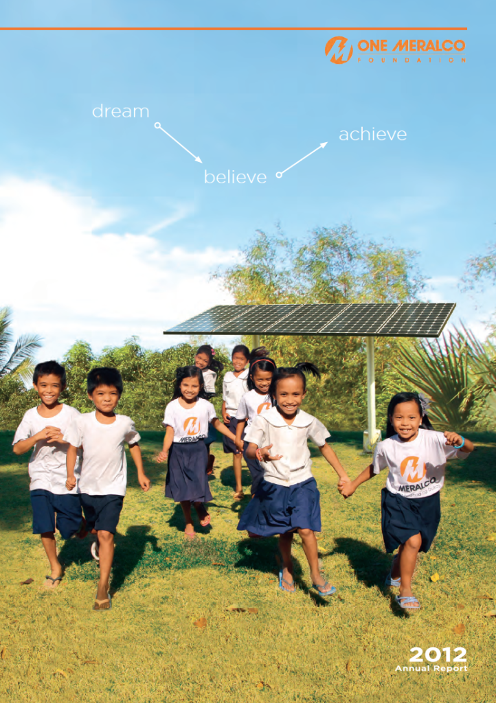 Happy children hurry home from a full day of learning from their school, one of six fully solar-powered by One Meralco Foundation in Isla Verde, Batangas.