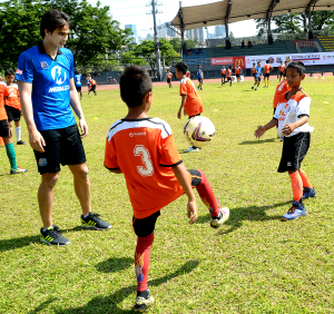 "Among the Loyola Meralco Sparks Football Club players who trained the ""Football for Peace"" participants  were brothers James and Phil Younghusband."