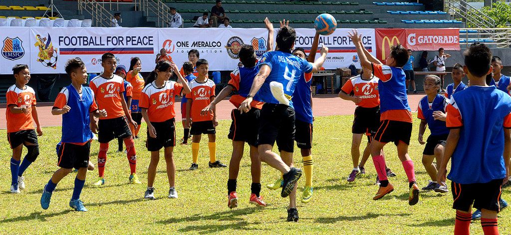 Participants from various Philippine Marine detachments mostly in Mindanao train football under the tutelage of the Loyola Meralco Sparks Football Club.