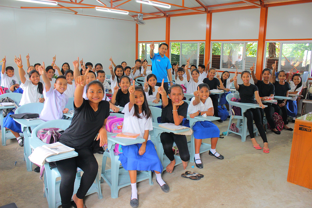 One of the classrooms built by One Meralco Foundation after typhoon Yolanda (Haiyan) in Iloilo, Philippines.