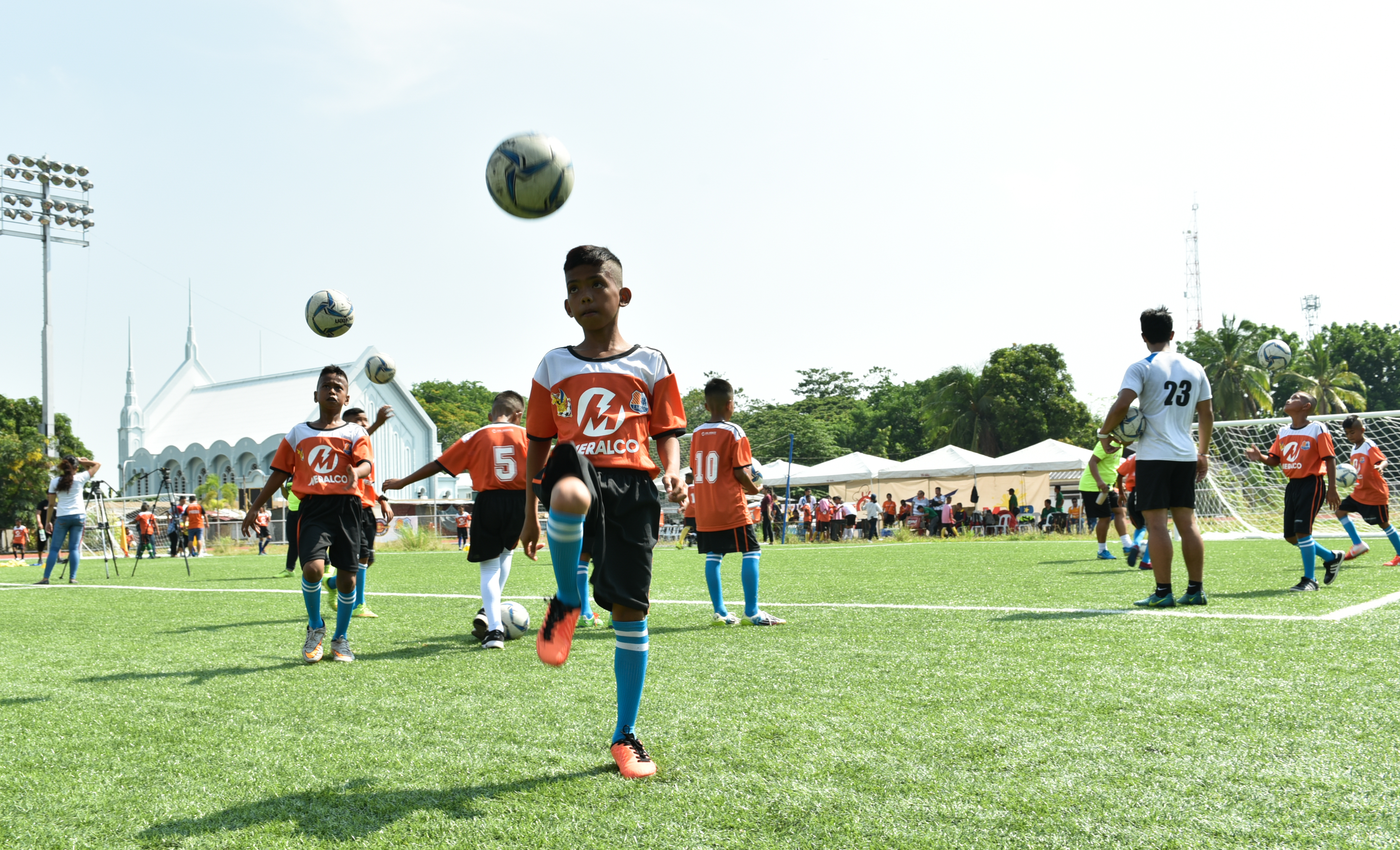 One Meralco Foundation and the Philippine Marine Corps promote peace through sports with Football for Peace.
