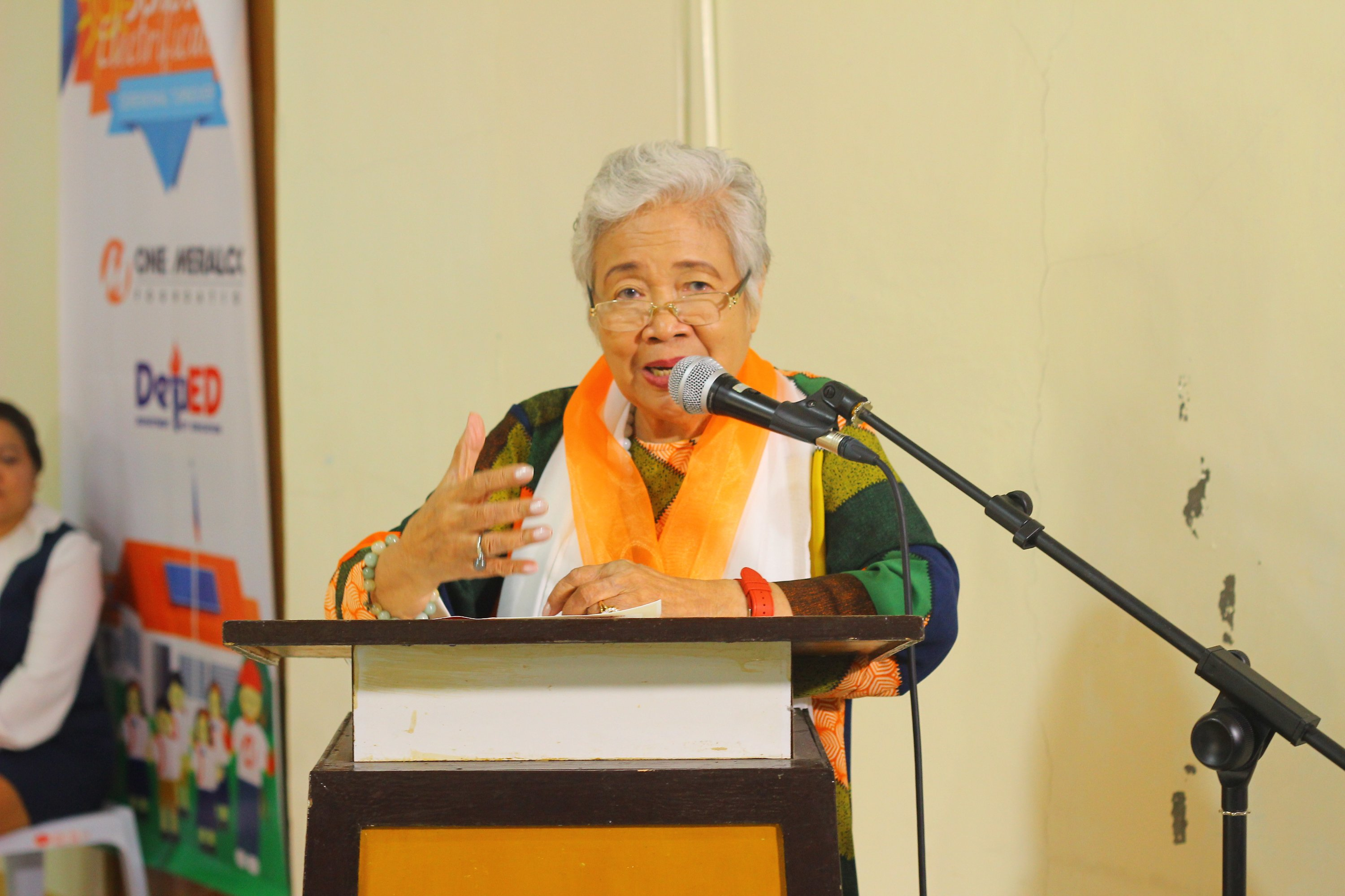 DepEd Secretary Leonor Briones at One Meralco Foundation School Electrification Launch in Dumaguete City