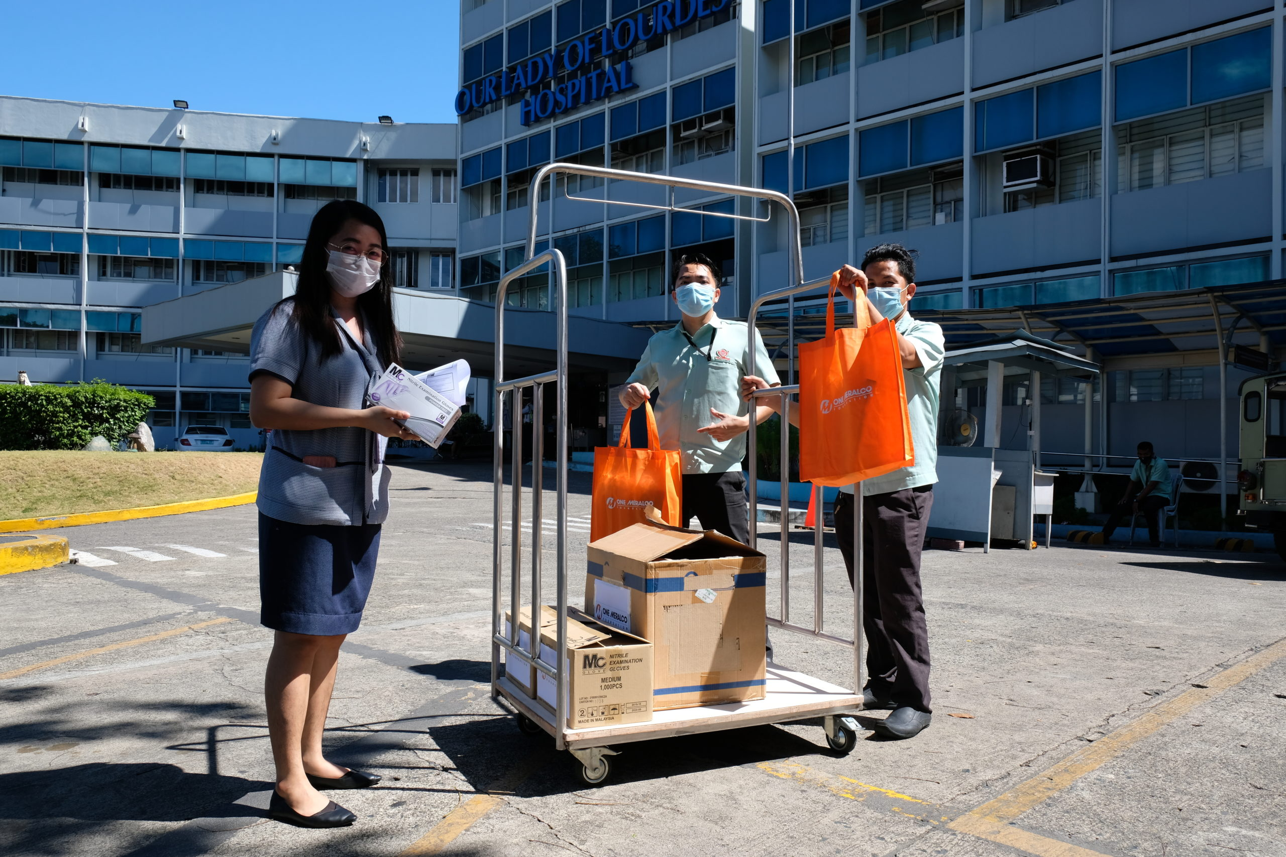 OMF donates face masks and face shields to Our Lady of Lourdes Hospital amid COVID-19 crisis in the Philippines