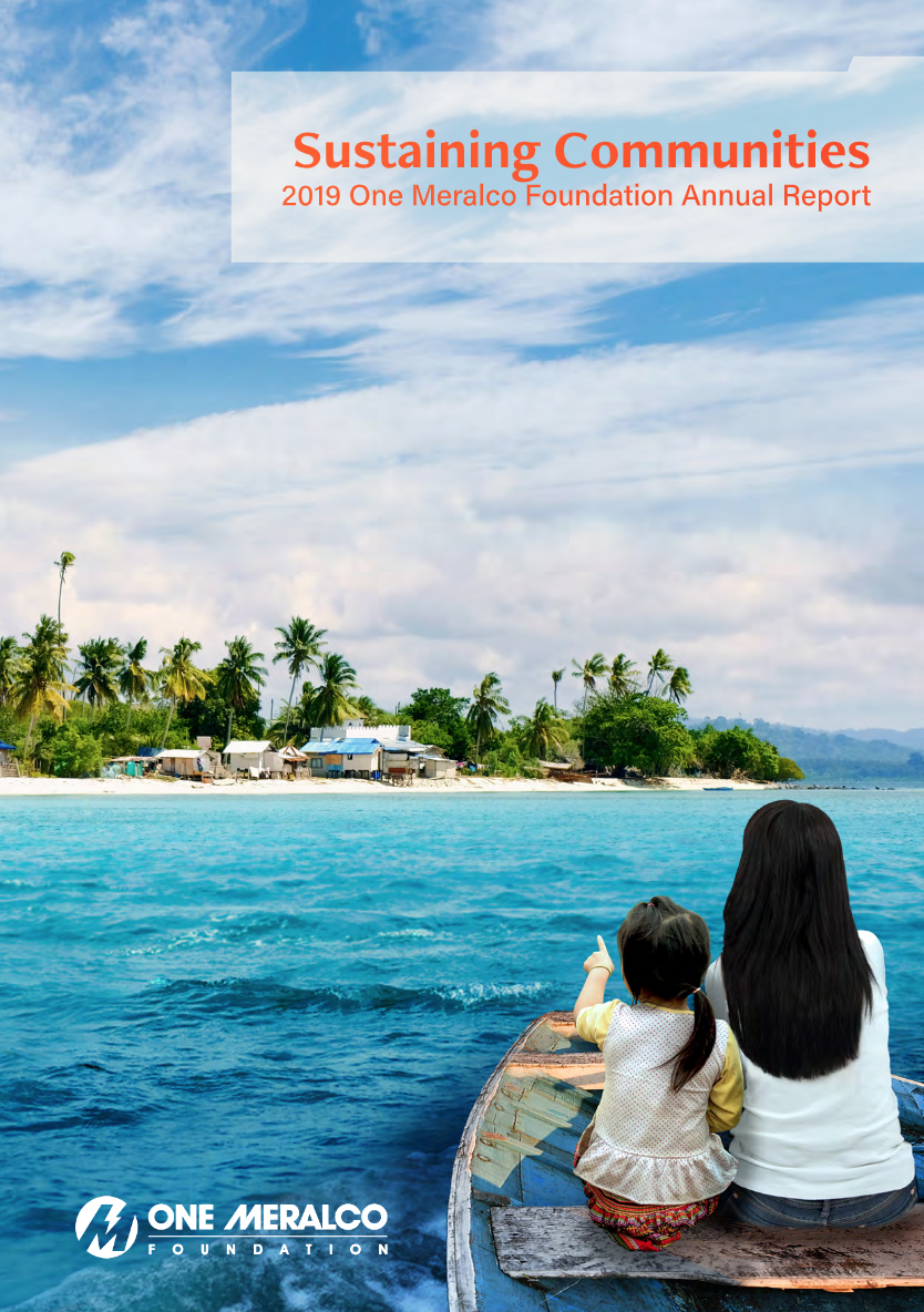 One Meralco Foundation 2019 Annual Report Cover