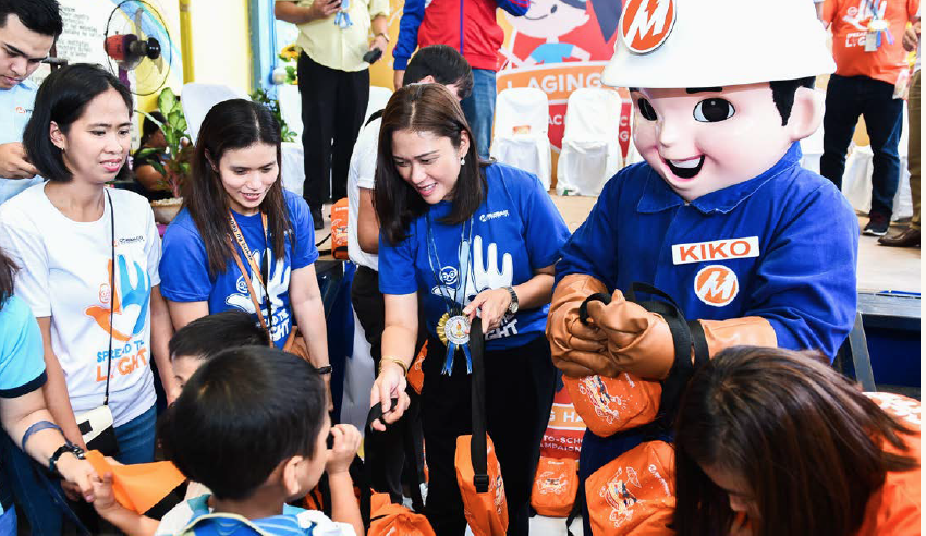 One Meralco Foundation's back-to-school employee volunteering program.