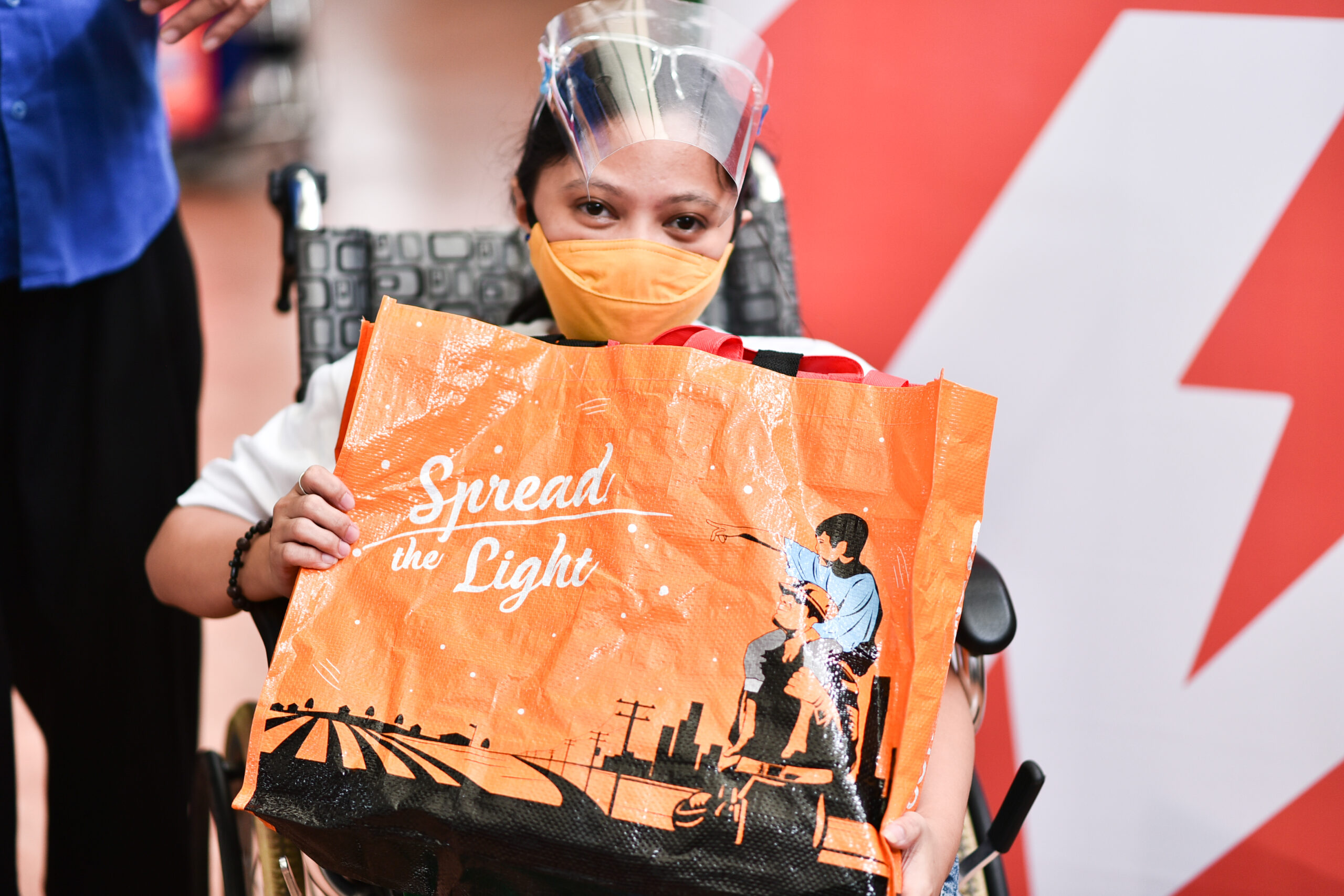 one meralco foundation donates noche buena packages to persons with disabilities